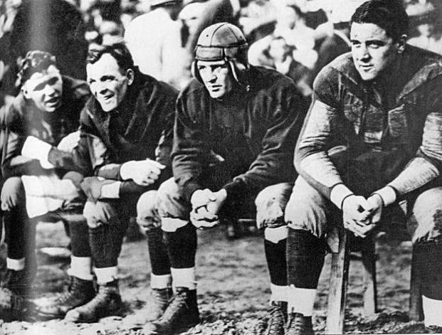 Red Grange, by contract, had to sit out two quarters of every game during the barnstorming tour to save his health.