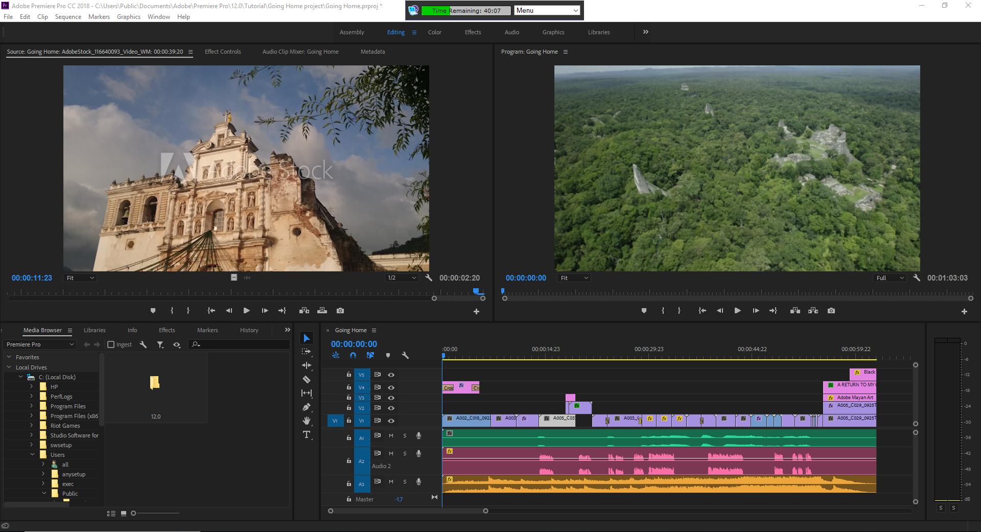 Editing Screen Window