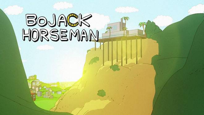 BoJack's house, much like his life, is in a precarious position.