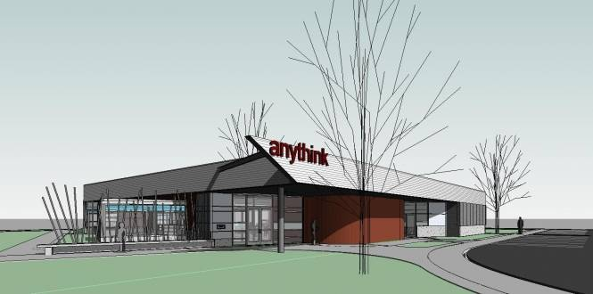 Rendering of new Anythink Commerce City entrance