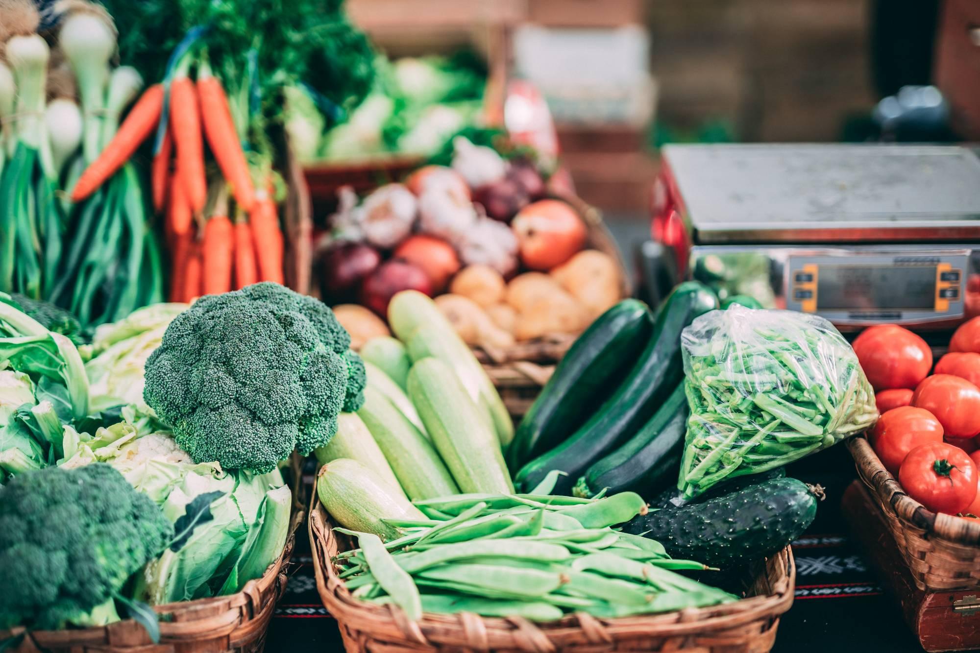 Produce at a farmer's market