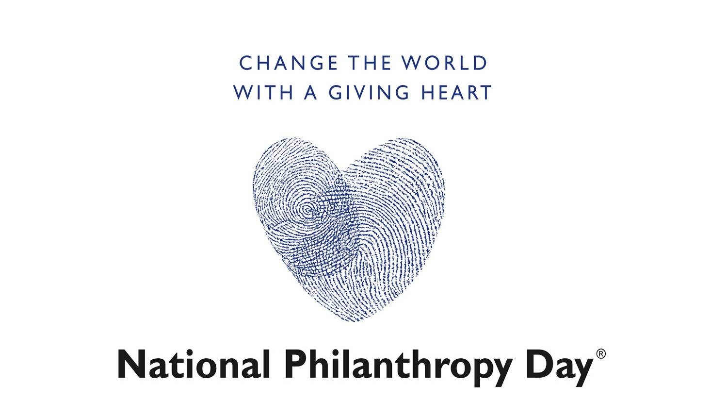 National Philanthropy Day color logo