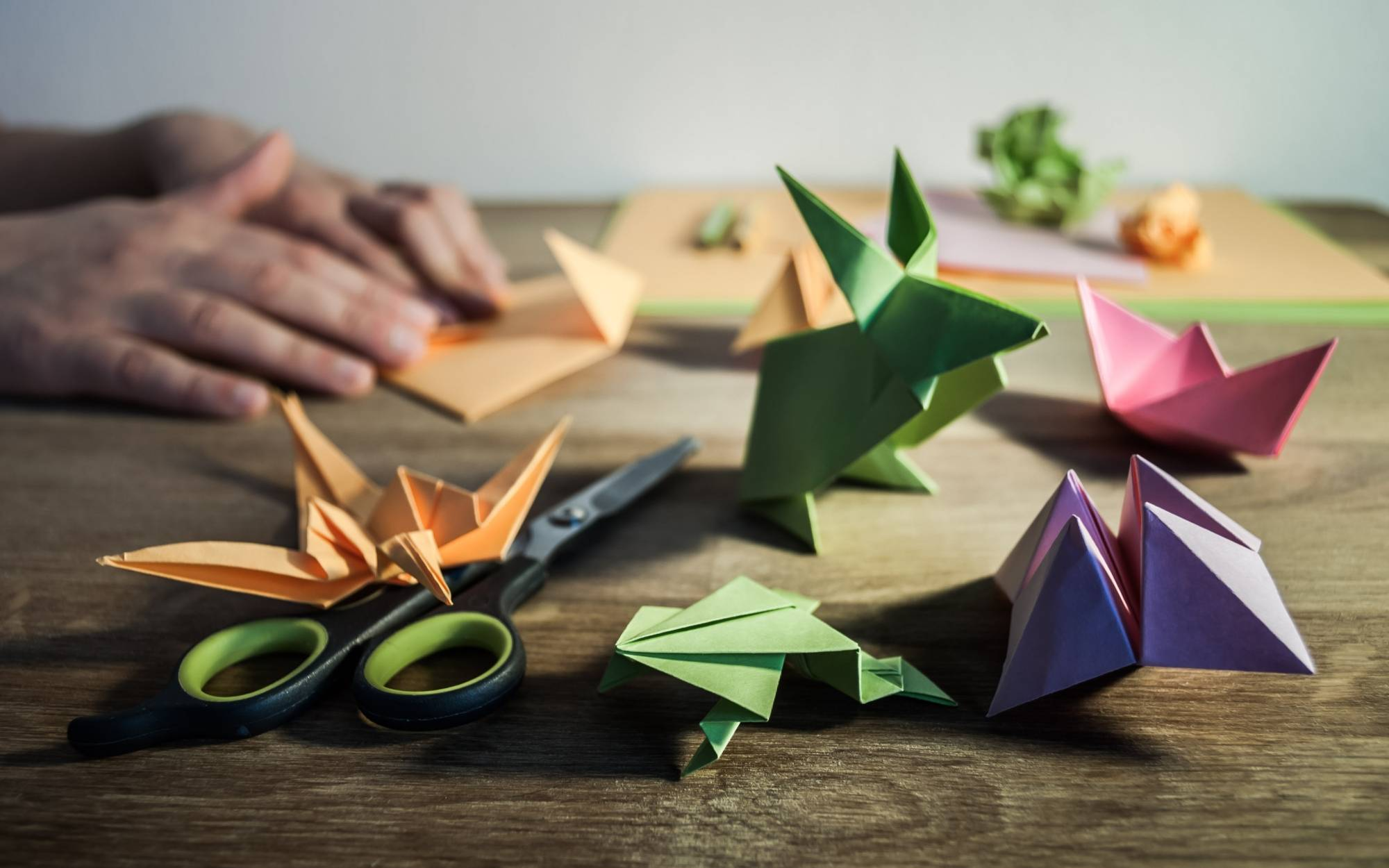 Image of assorted origami