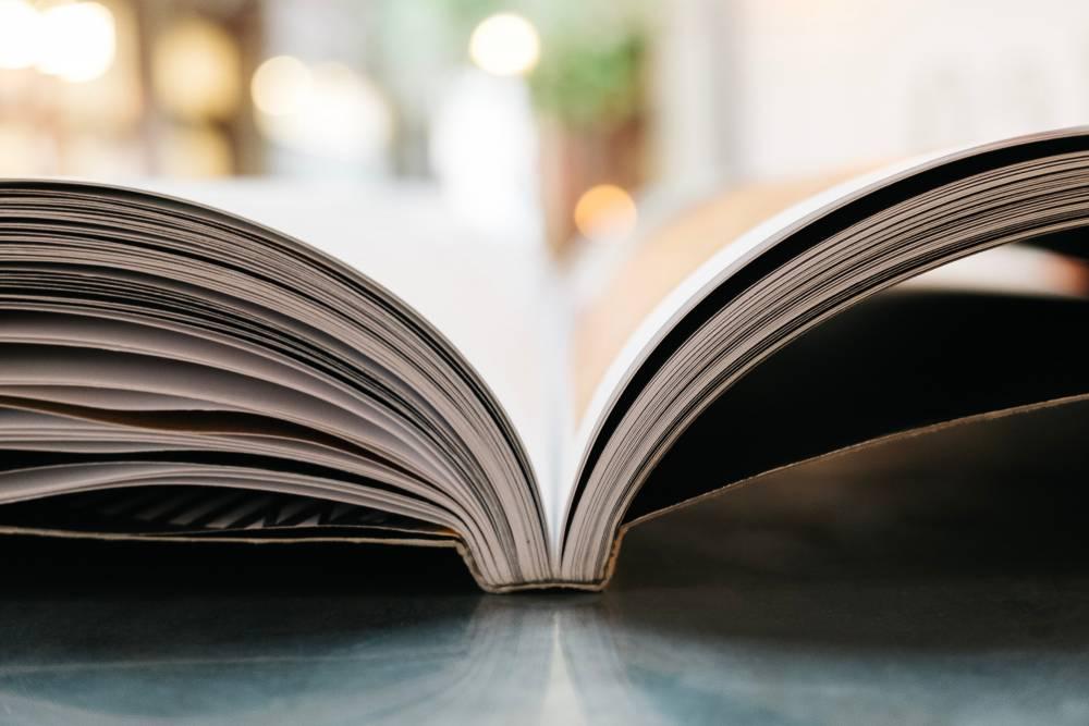 Photo of an open book
