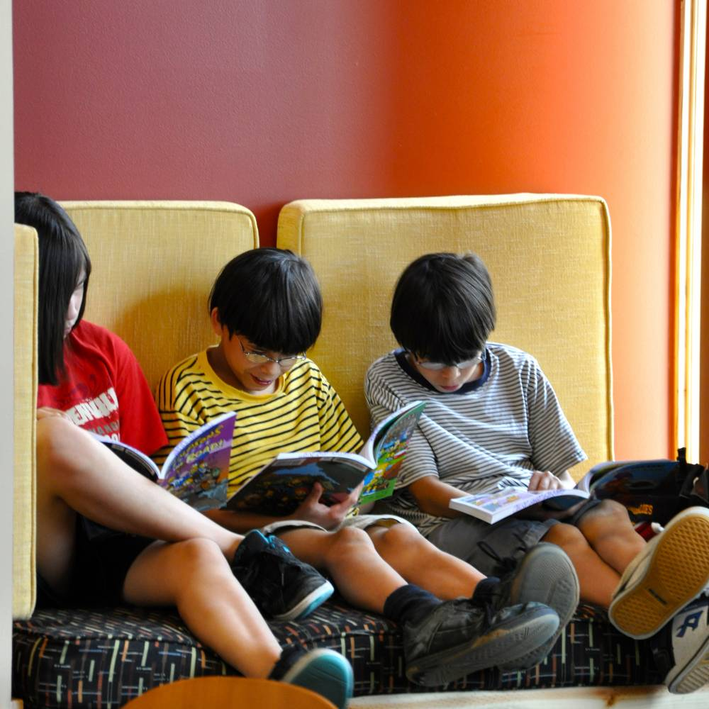 Children who are surrounded by books learn to incorporate reading into their daily habits.