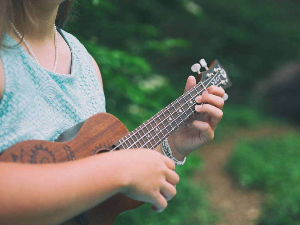 Girl with ukulele