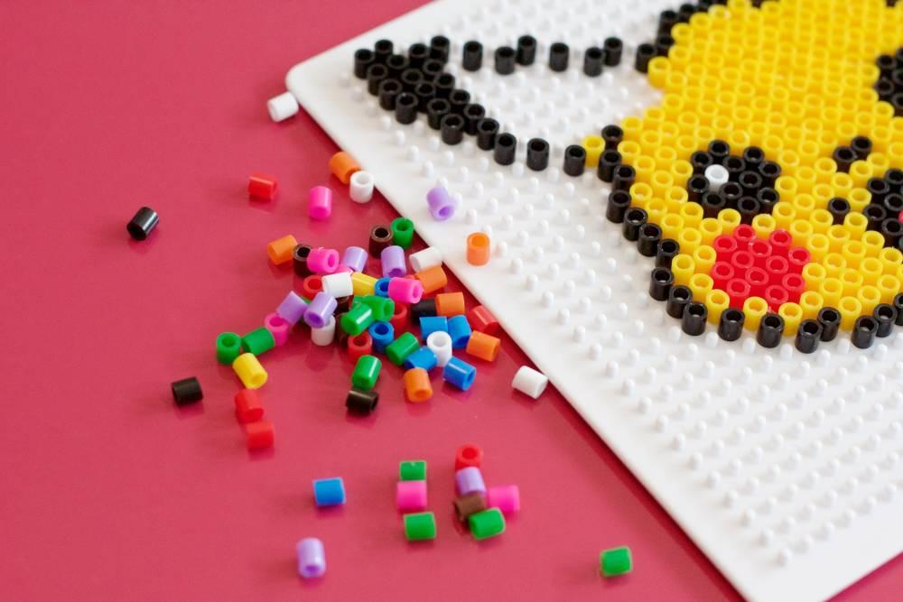 Pikachu perler bead design