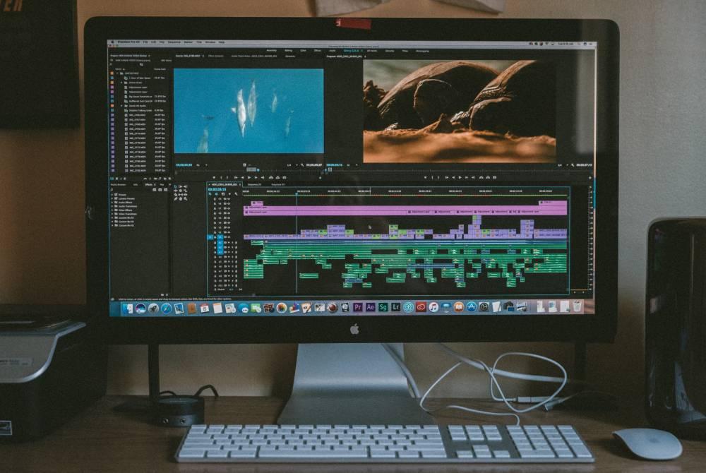 iMac with Adobe Premiere Pro