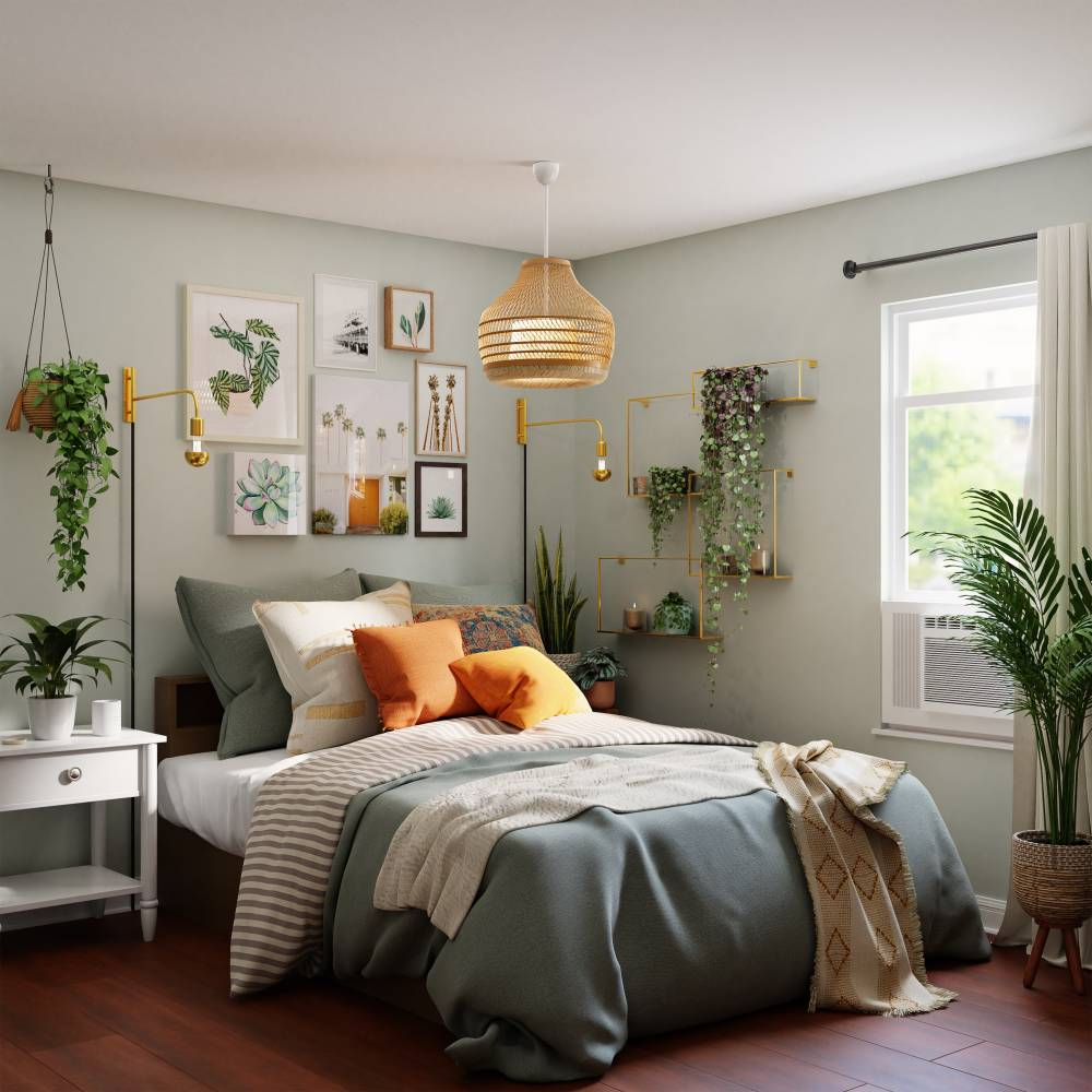 Well organized bedroom