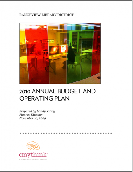 Rangeview Library District 2010 Budget and Operating Plan