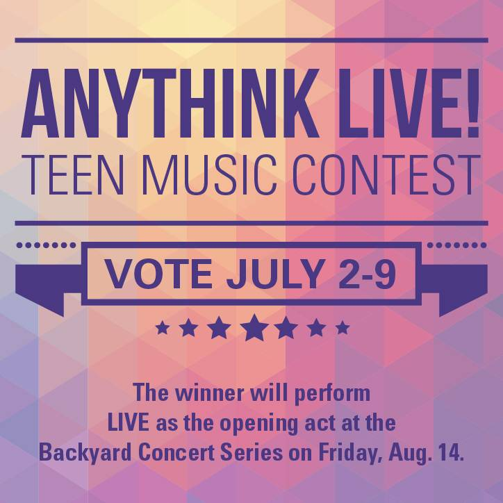 Anythink LIVE! teen music contest: Vote for your favorite act