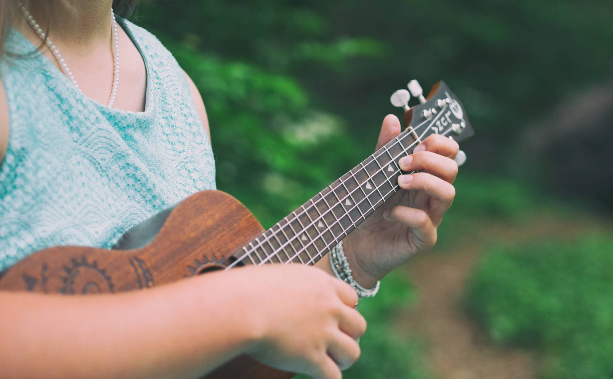 Girl with ukulele