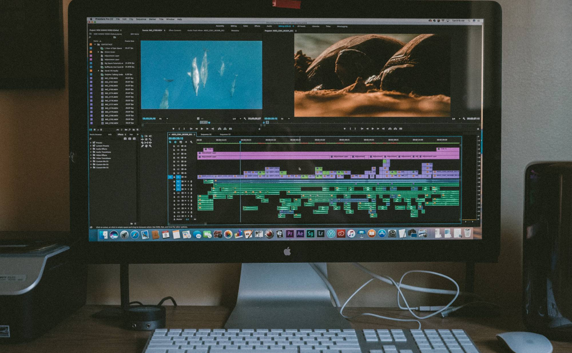 iMac with Adobe Premiere Pro