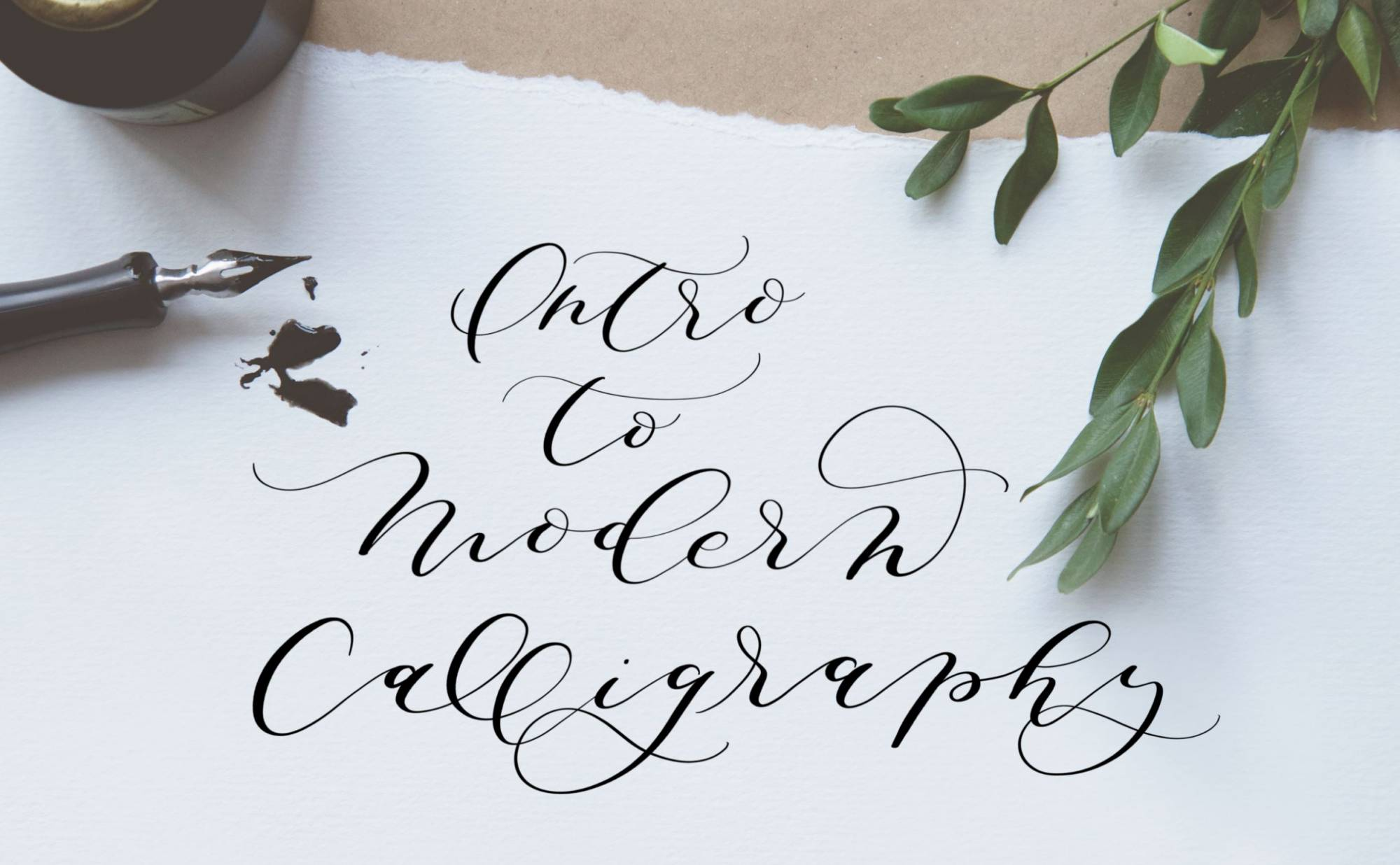 Paper with calligraphy