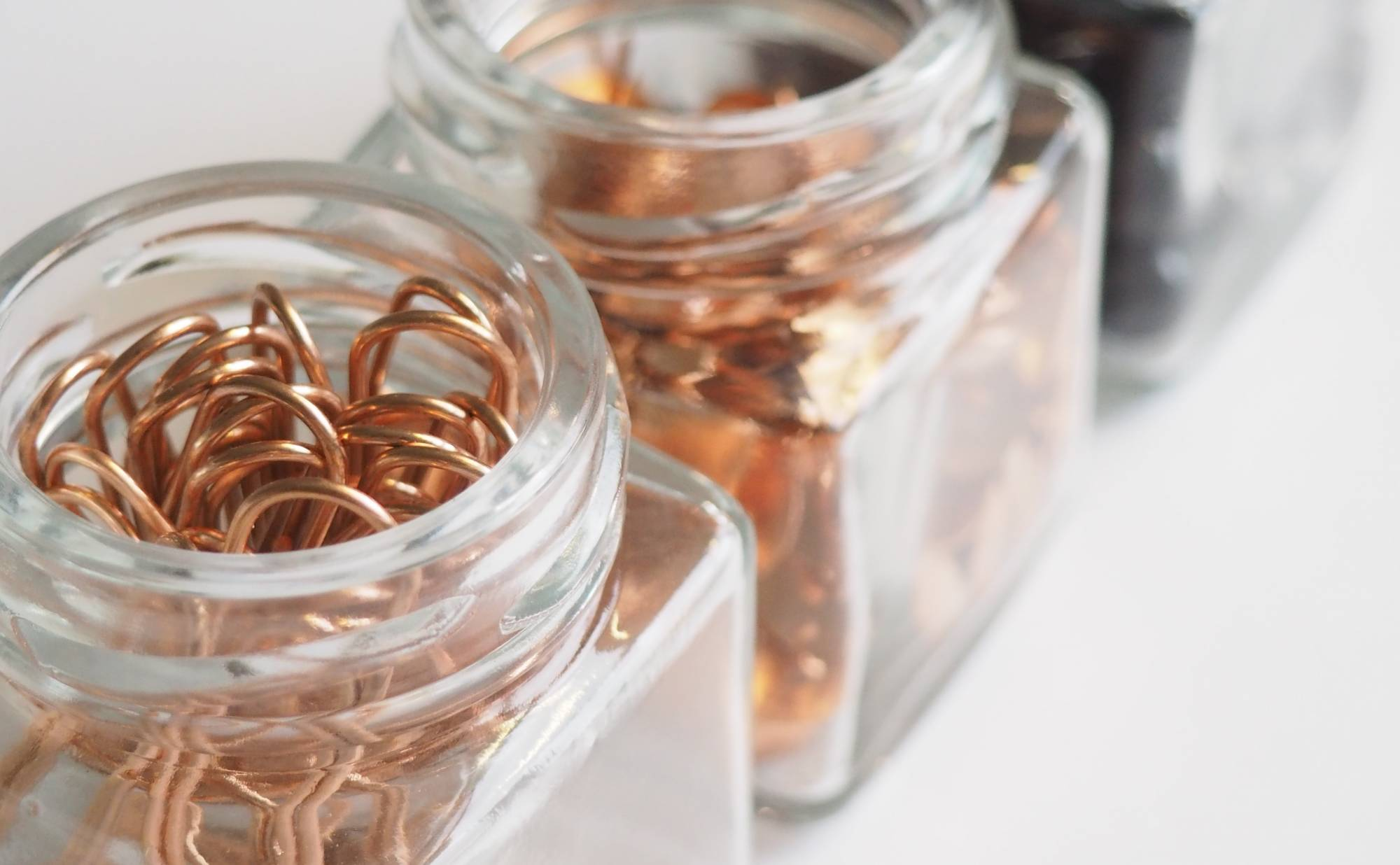 Copper in jars
