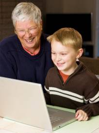 Technology tutoring takes place across generations