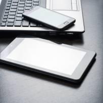 stock photo - tablet, laptop & smartphone