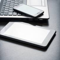 stock photo - tablet, laptop & smartphone